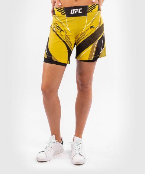 UFC VENUM AUTHENTIC搏击之夜女士短裤-长款 - 黄色的