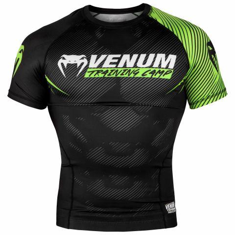 Venum Training Camp 2.0 防磨衣 - 短袖 - 黑/荧光黄