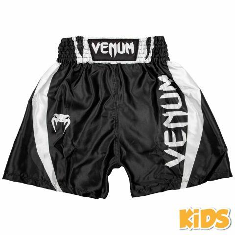 Venum Elite 儿童拳击短裤 - 黑/白