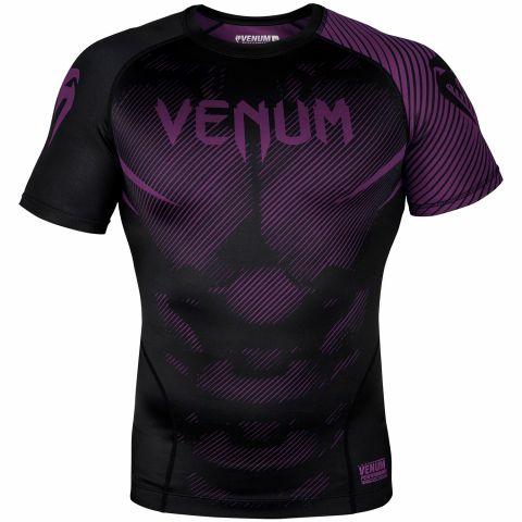 Venum NoGi 2.0 防磨衣 - 短袖 - 黑/紫
