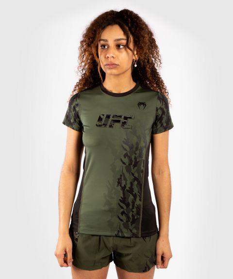 UFC VENUM AUTHENTIC格斗周女装功能短袖快干T恤 - 卡其色