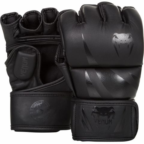 Venum Challenger MMA 手套 - 哑光黑