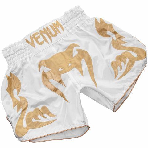 Venum Bangkok Inferno 泰拳短裤 - 白/金