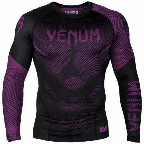 Venum NoGi 2.0 防磨衣 - 长袖 - 黑/紫