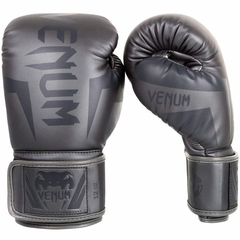 Venum Elite 拳击手套 - 灰/灰