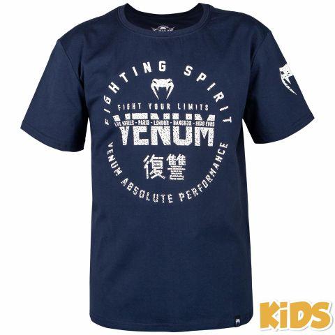 Venum Signature 儿童T恤 - 海军蓝