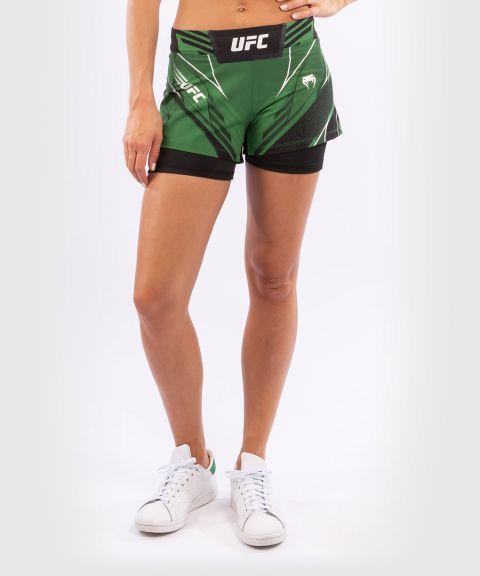UFC VENUM AUTHENTIC战斗之夜女士短裤-合身剪裁 - 绿色