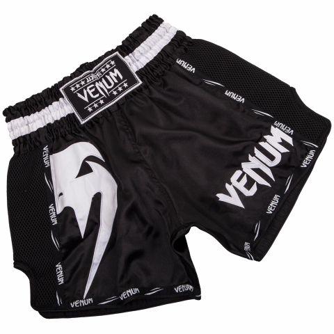 Short Muay Thai Venum Giant - Noir/Blanc