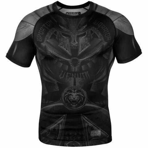 Venum Gladiator 3.0 防磨衣 - 短袖 - 黑/黑