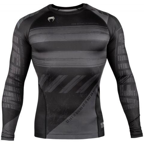 Venum AMRAP 压缩T恤 - 长袖 - 黑/灰