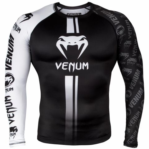 Venum Logos 长袖防磨衣 - 黑/白