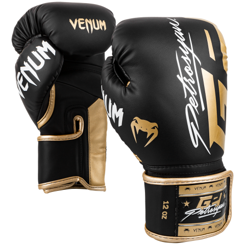 Venum Petrosyan 拳击手套 - 黑/金