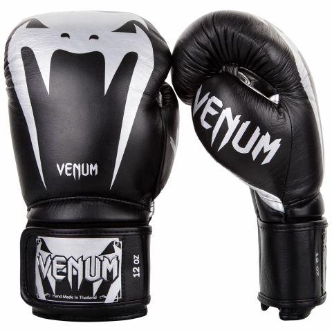 Venum Giant 3.0 拳击手套 - 头层牛皮 - 黑/银
