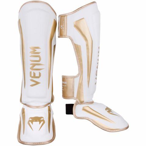 Venum Elite 站式护腿 - 白/金