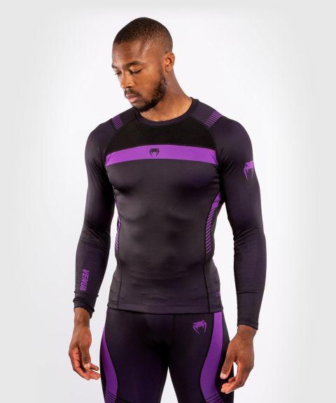 VENUM NO GI 3.0 紧身T恤-长袖-黑色/紫色