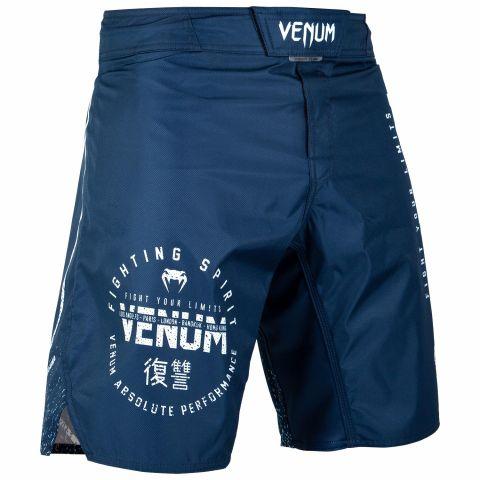 Venum Signature 搏击短裤 - 海军蓝/白