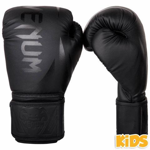 Venum Challenger 2.0 儿童拳击手套 - 黑/黑
