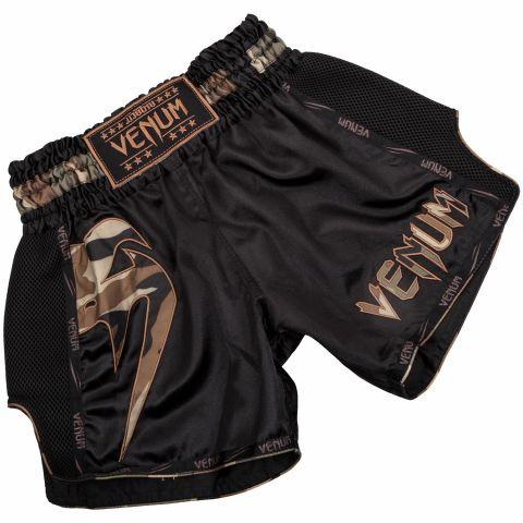 Short Muay Thai Venum Giant - Noir/Camo