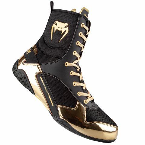 Venum Elite 拳击鞋 - 黑/金