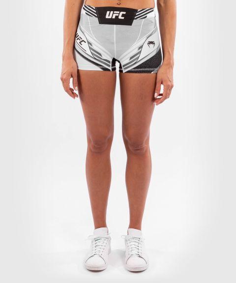 UFC VENUM AUTHENTIC搏击之夜女士VALE TUDO压力短裤-超合身剪裁 - 白色的