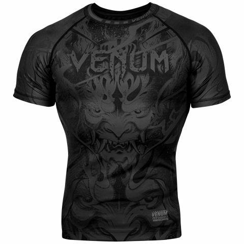 Venum Devil 防磨衣 - 短袖 - 黑/黑