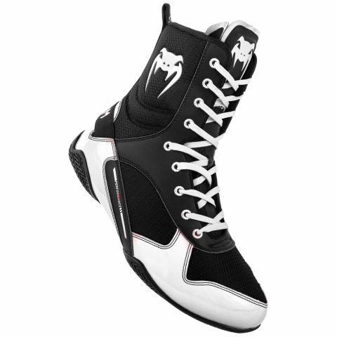 Venum Elite 拳击鞋 - 黑/白