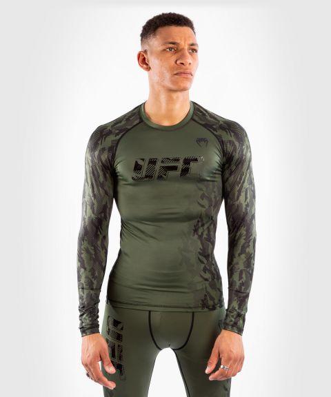 UFC VENUM AUTHENTIC UFC格斗周男士长袖功能压力运动衣 - 卡其色