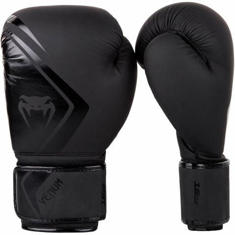 Venum 拳击手套 Contender 2.0 - 黑/黑