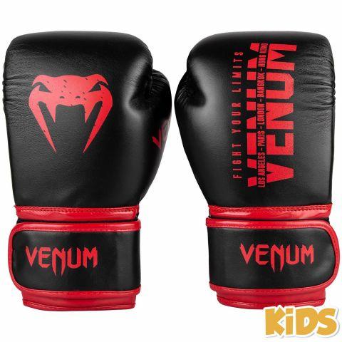 Venum Signature 儿童拳击手套 - 黑/红