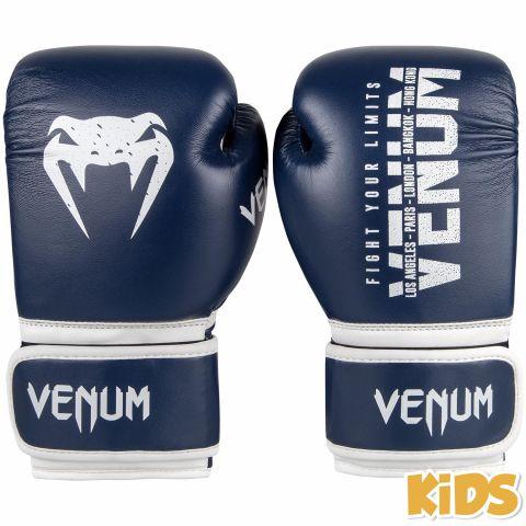 Venum Signature 儿童拳击手套 - 海军蓝