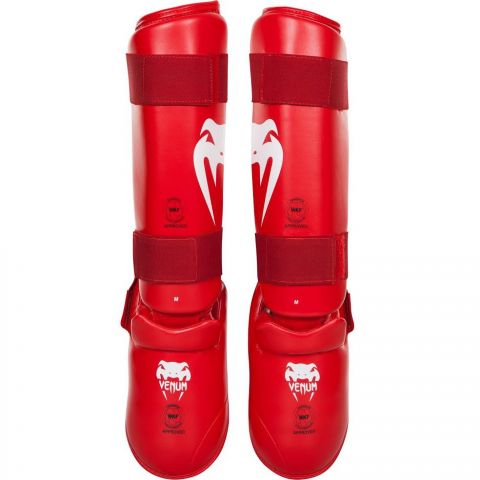 Venum Giant Karate Shin Pad & Foot Protector - Approved by the PKF - Red