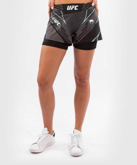 UFC VENUM AUTHENTIC战斗之夜女士短裤-合身剪裁 - 黑色的