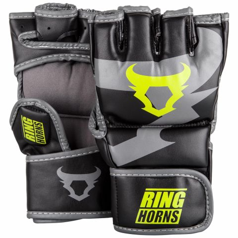 Ringhorns Charger MMA 手套 - 黑/荧光黄