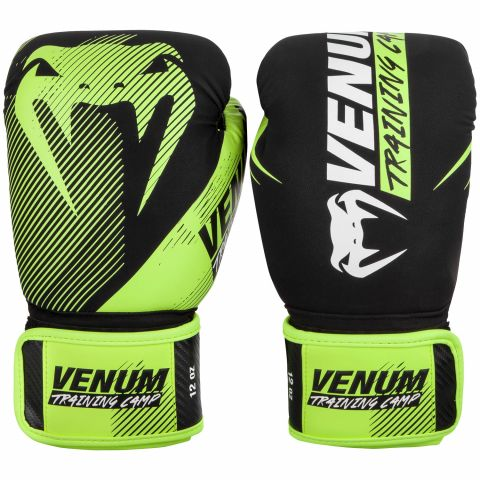 Venum Training Camp 2.0 拳击手套 - 黑/荧光黄