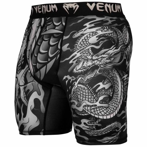 Venum Dragon's Flight 压缩短裤 - 黑/沙