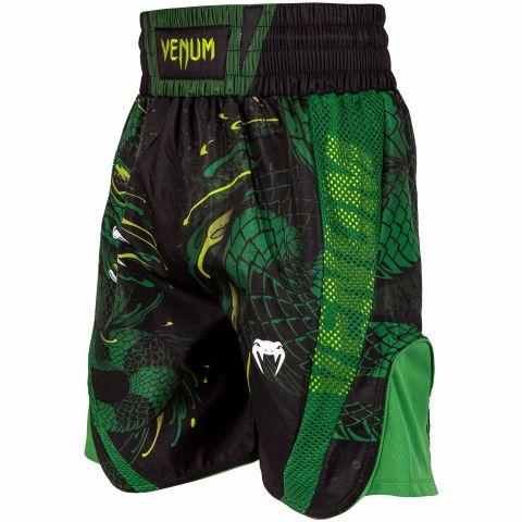 Venum Green Viper 拳击短裤 - 黑/绿