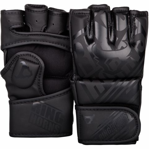 Ringhorns Nitro MMA 手套 - 黑/黑
