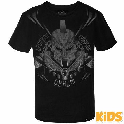 Venum Gladiator 儿童T恤 - 黑/黑