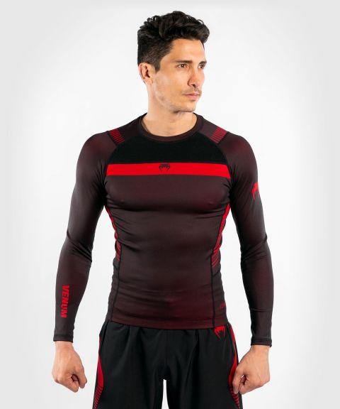 Venum No Gi 3.0 紧身T恤-长袖 - 黑色/红色