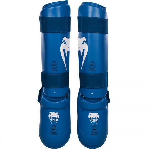 Venum Giant Karate Shin Pad & Foot Protector - Approved by the PKF - Blue