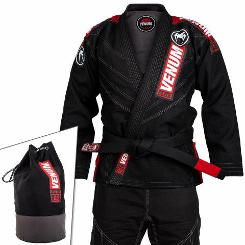 Venum Elite 2.0 巴西柔术道服 - (含道服包)- 黑