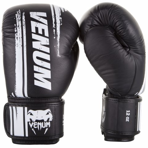 Venum Bangkok Spirit 拳击手套 - 头层牛皮 - 黑