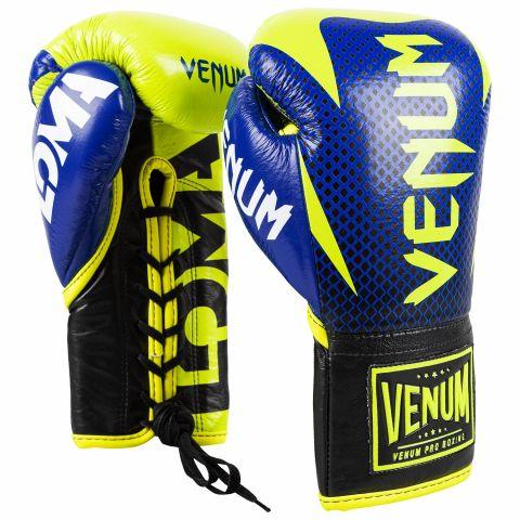 Venum Hammer 职业拳击手套 Loma 版本 - 带子 - 黑/黄
