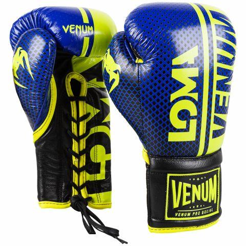 Venum Shield 职业拳击手套 Loma 版本 - 带子 - 黑/黄