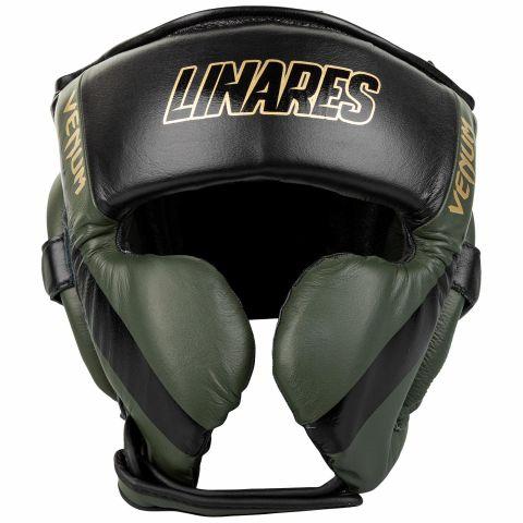 Venum 职业拳击头具Linares版-卡其/黑/金