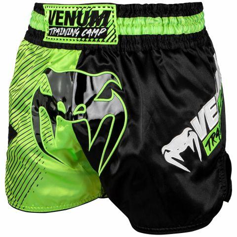 Venum Training Camp 泰拳短裤 - 黑/荧光黄