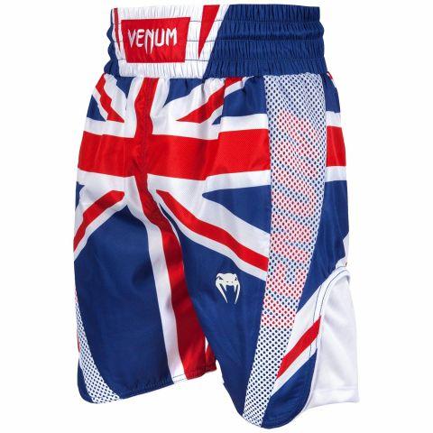 Venum Elite 拳击短裤 - 英国 - 蓝/红-白