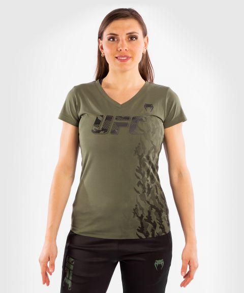 UFC VENUM AUTHENTIC格斗周女士短袖T恤 - 卡其色