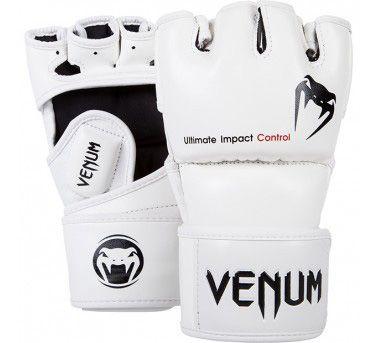 Venum Impact 综合格斗手套-Skintex皮革-白色
