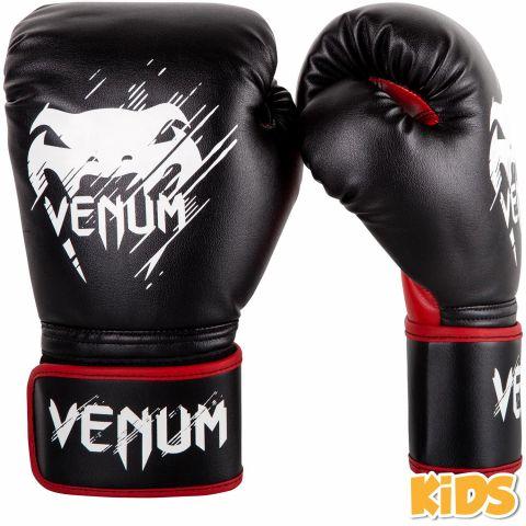 Venum Contender儿童拳击手套-黑色/红色